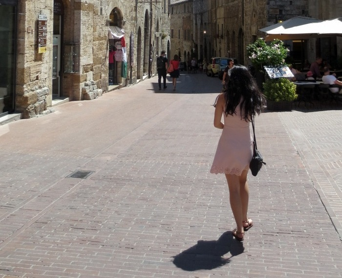 Walking through the streets of San Gimignano
