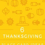 6 creative thanksgiving place card ideas