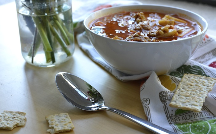 Vegan Lentil and Chorizo Soup