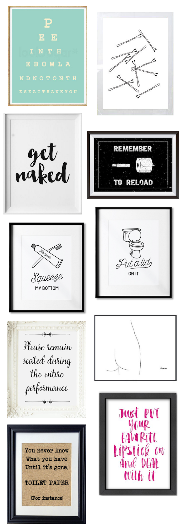10 funny yet classy prints for your bathroom for Funny bathroom photos