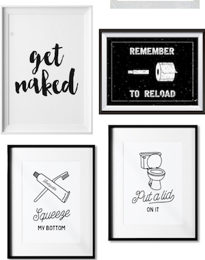 10 funny (yet classy) prints for your bathroom