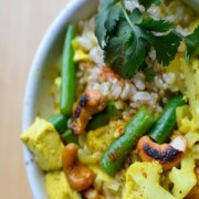 Coconut curry with cashews