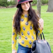 owl tee in chartreuse