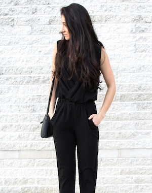 black jump suit date night