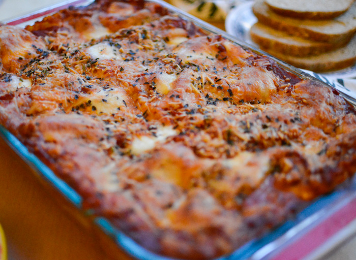 homemade vegetable lasagna
