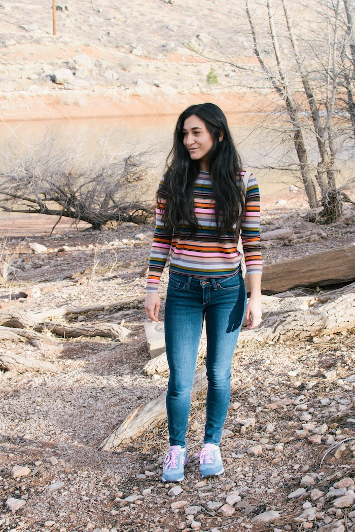 rainbow stripe sweater j.crew