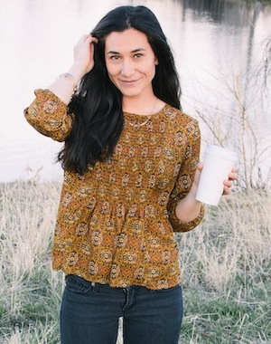 mustard patterned top