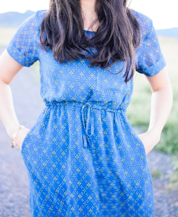 patterned blue dress_everygoodthingblog